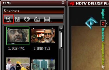دکمه scan channels برای یافتن کانالها