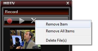 حذف کردن فیلم ضبط شده در BlazeDTV