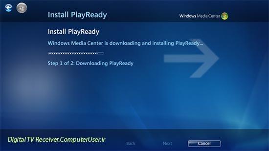 صبر کنید تا PlayReady دانلود و نصب گردد. اگر خواستید!